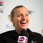 STUTTGART, GERMANY - APRIL 21 : Petra Kvitova talks to the media at the 2016 Porsche Tennis Grand Prix