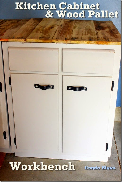 kitchen cabinet wood pallet workbench