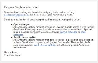 Akun Gmail Di Hack Dan Email Pemulihan Diganti Google Product Forums