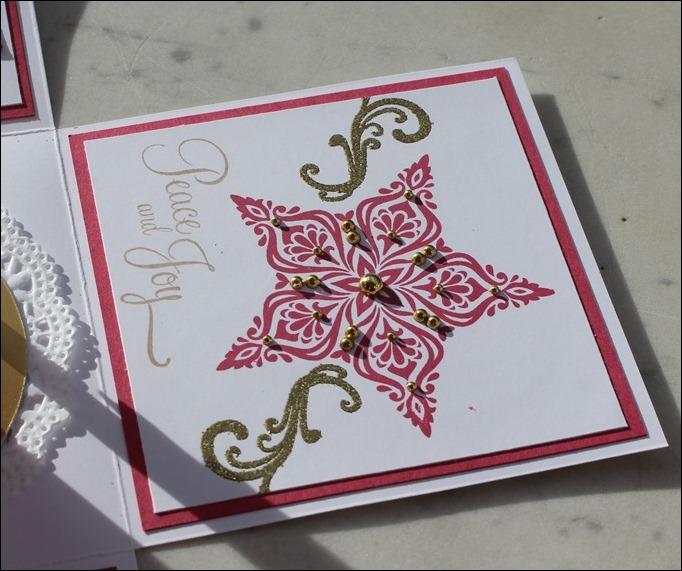 Explosion Box Weihnachten Christmas Gold Glitzer Karussell Stampin Up Zum Nachwuchs Weihnachtsschlitten 05