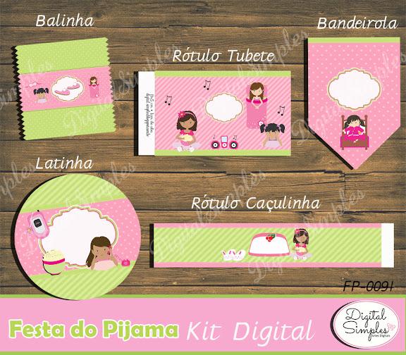 Kit Digital Festa do Pijama  .....artesdigitalsimples@gmail.com