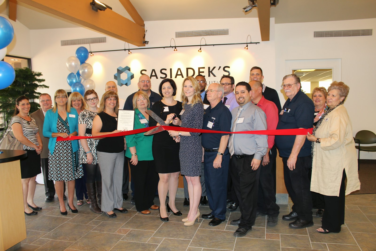 Sasiadek's IT Solutions hosted a ribbon cutting ceremony and open house celebration to mark the opening of their new 8,500 square foot office.  Stop by to see the latest technology in computing and printing solutions in their state of the art showroom.