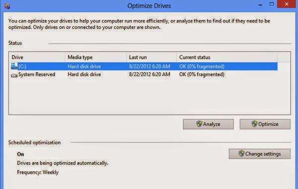 Cách tối ưu ổ đĩa trong hệ điều hành Windows 8 2