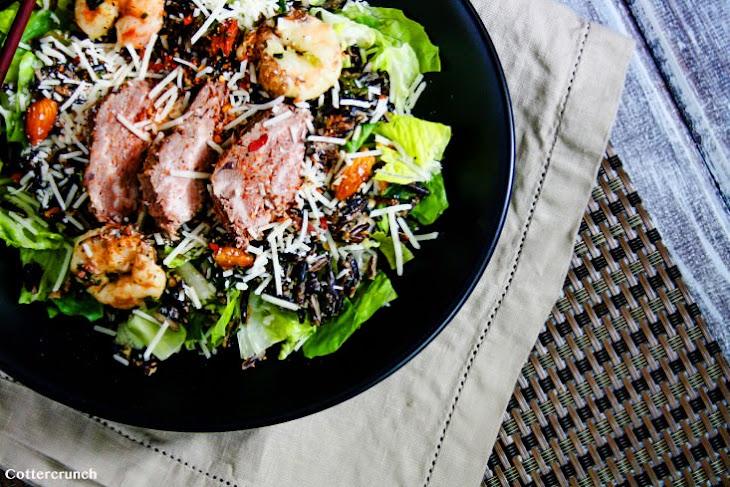 Spicy Surf and Turf Caesar Salad Recipe (Gluten Free) Recipe