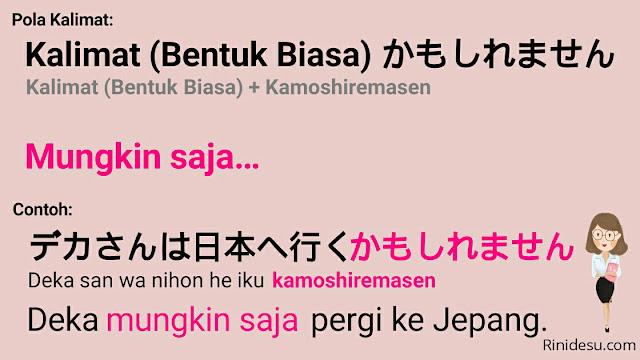 Tata Bahasa: ~kamoshiremasen (かもしれません)