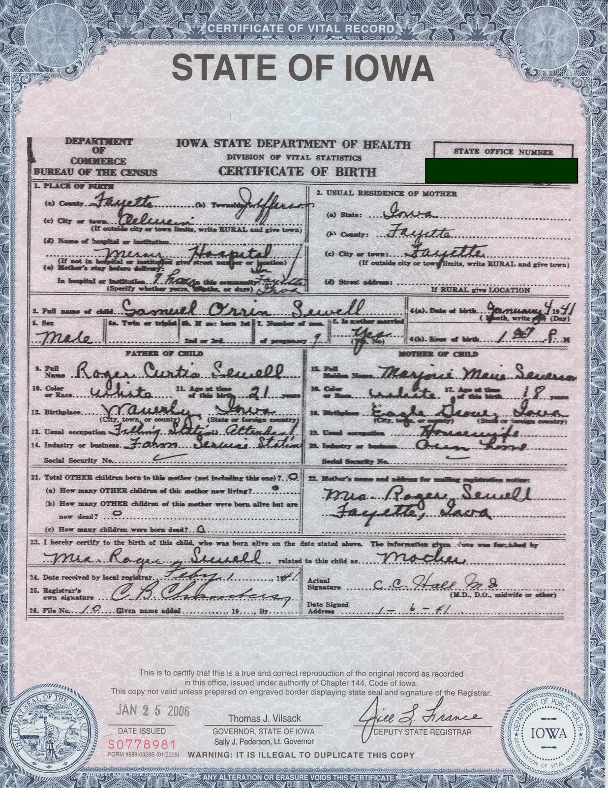 Iowa Certified Birth Certificate Topsimages