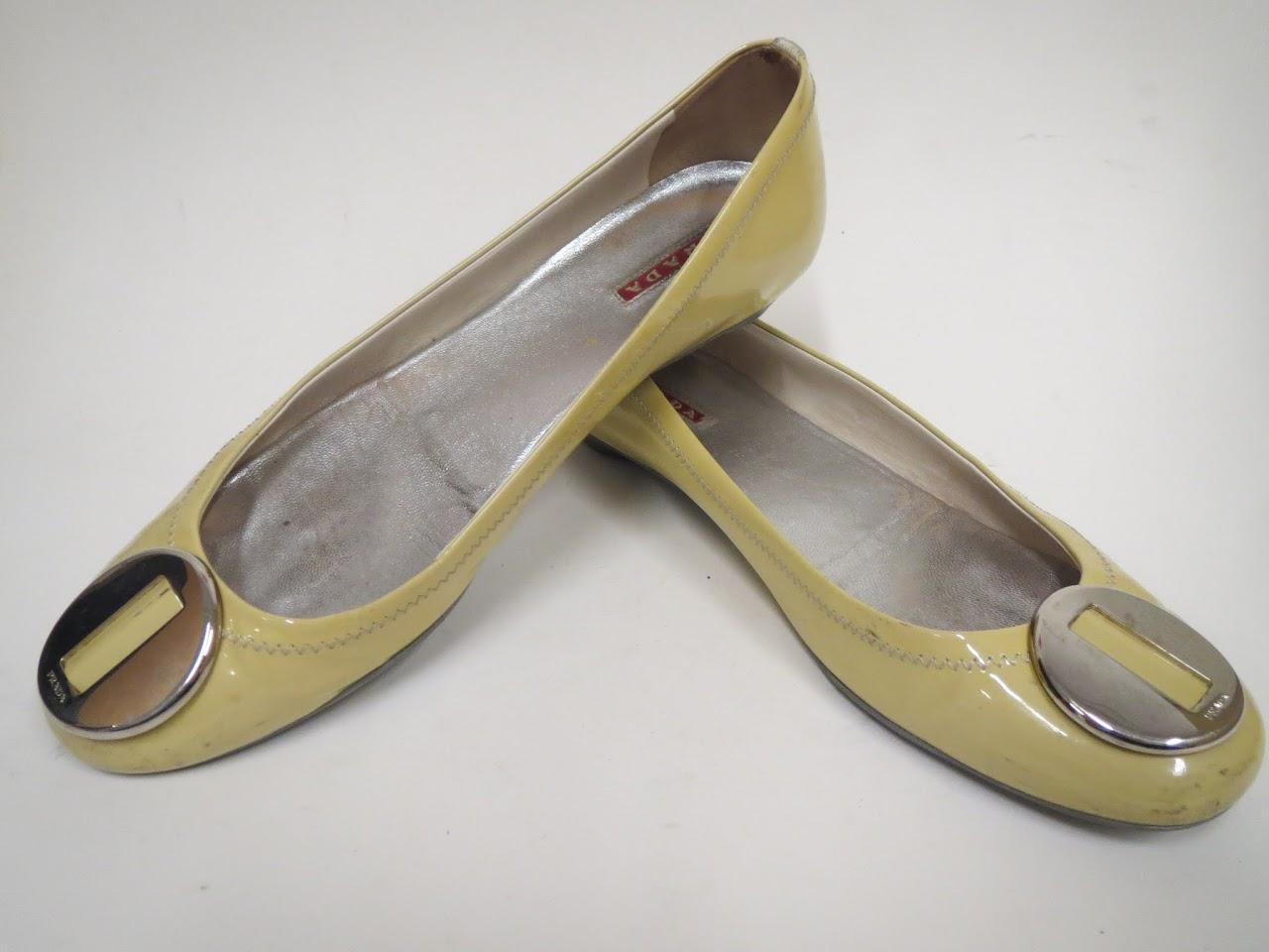 Prada Patent Ballet Flats