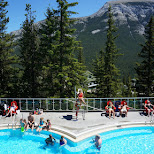 Banff Upper Hot Springs in Alberta on a sunny day in Calgary, Alberta, Canada