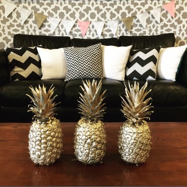 Gold Pineapple Decor Diy