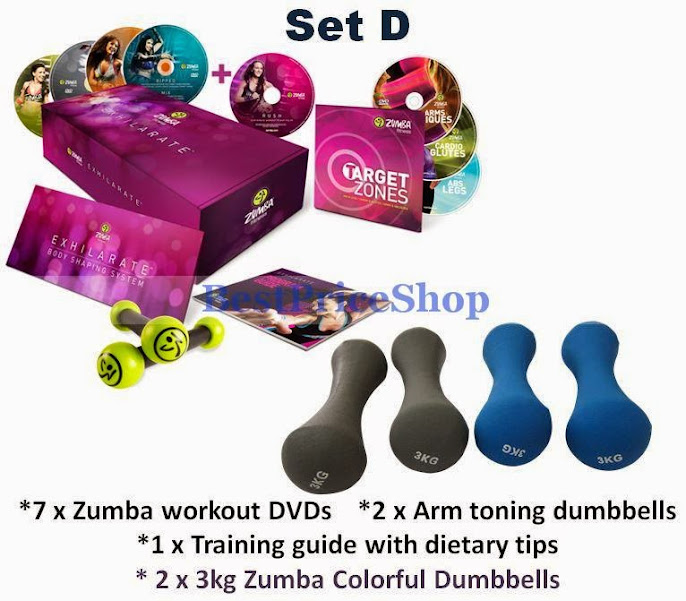Zumba Fitness Live Dvd: New Zumba Exhilarate Dumbbells 7 DVD (end 6/15/2020 1:58 PM
