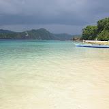 Plage de l'Île de Cacnipa, Palawan, 16 août 2005. Photo : J.-M. Gayman