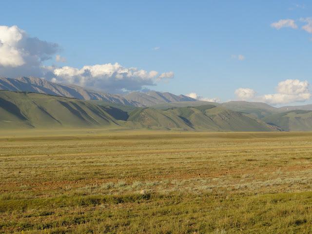 La steppe entre Kuraï et Kosh Agatch, 8 juillet 2010. Photo : B. Lalanne-Cassou