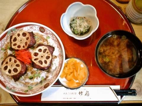 れんこん蒲焼丼定食¥785(【岐阜県羽島市】れんこん料理 竹扇ちくせん)