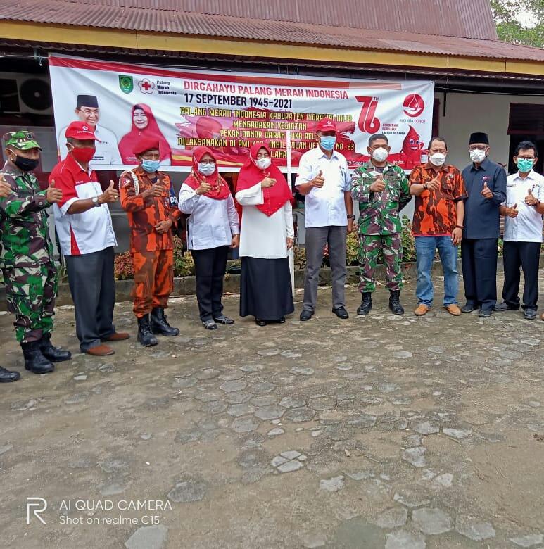 Meriahkan HUT Ke 76 TNI, Pemuda Pancasila Inhil Ikut Baksos Donor Darah