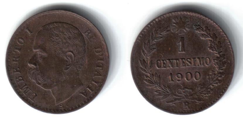 Mi colección de monedas italianas. 1%20centesimo%201900%20R
