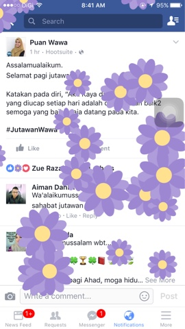Klik Button Like Di FB Keluar Bunga Sakura