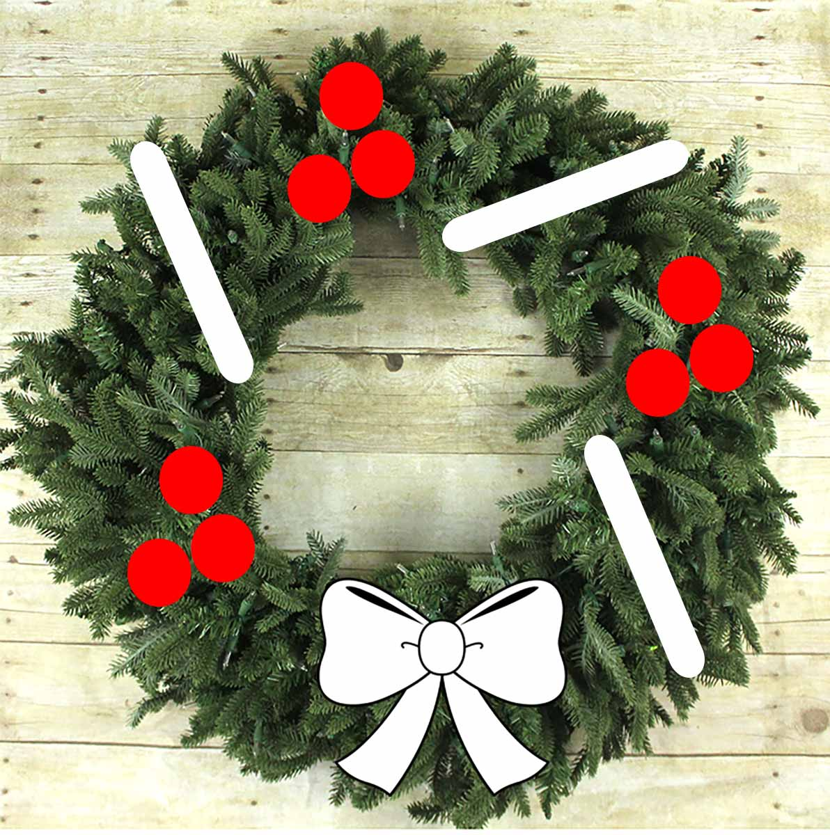 Simple wreath styling 3
