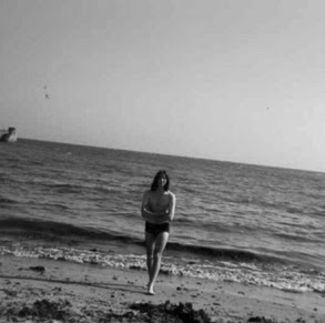 On the beach, aged 17