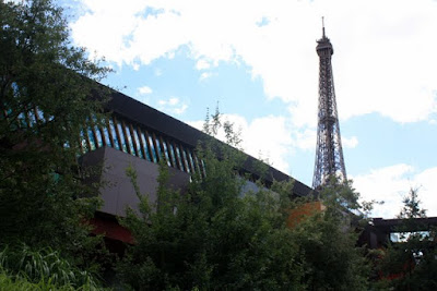 Eiffel Tower as seen from the Musee du Quai Branly in Paris France
