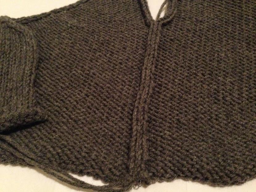 Mattress stitch seam, wrong side.