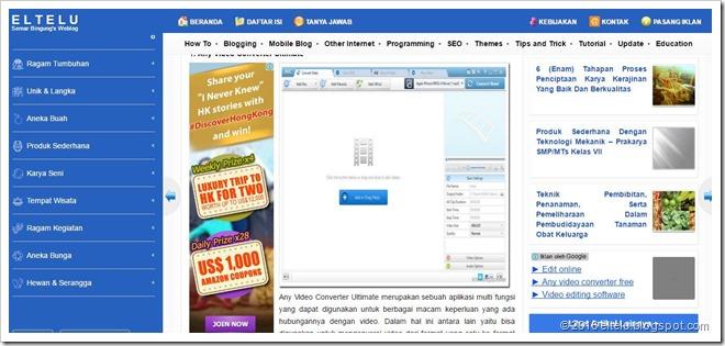 Contoh Iklan AdSense yang Terpasang di Tengah Artikel Blog