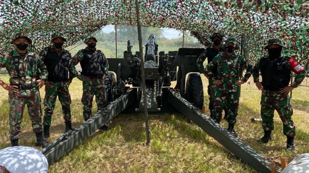 Pangdam I/BB Tinjau Latihan Menembak Senjata Berat Yon Armed 2/105