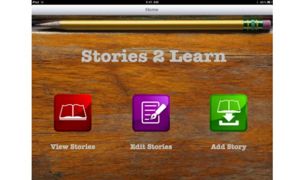 Stories2Learn Main Page