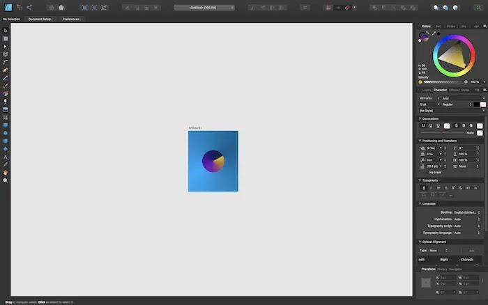 إنشاء وجه ساعة في Affinity Designer.