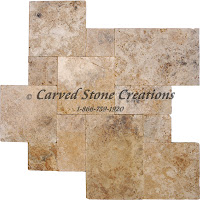 "16"" x 16"" x 3cm Walnut Rustico Travertine Paver Tumbled"