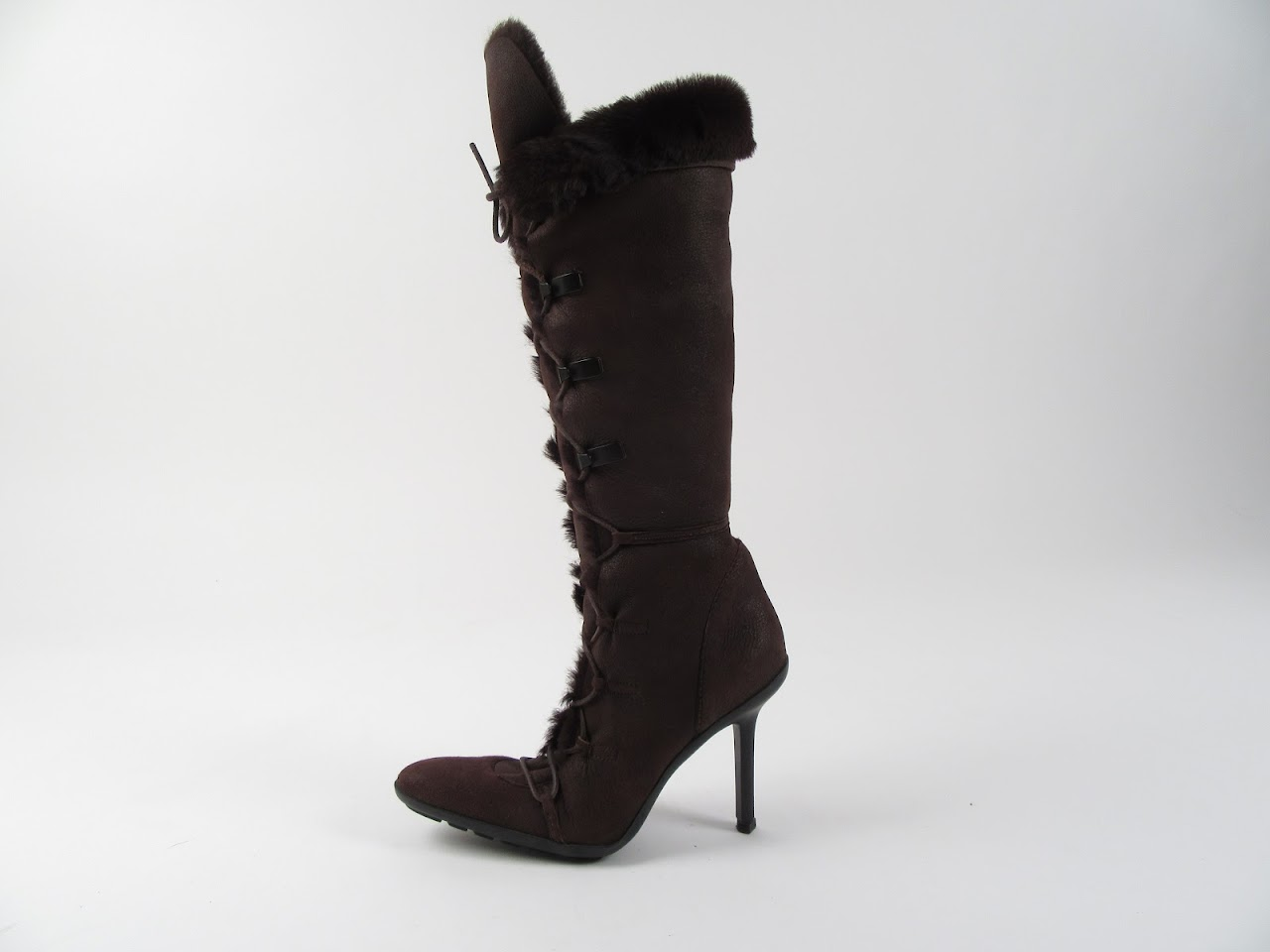 Gucci Brown Shearling Boots