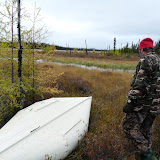 Raynald leaves several canoes in the adjacent lakes