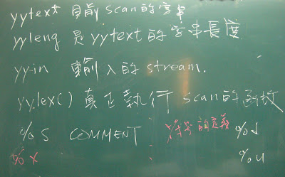 Lex內建的參數(變數及函數)