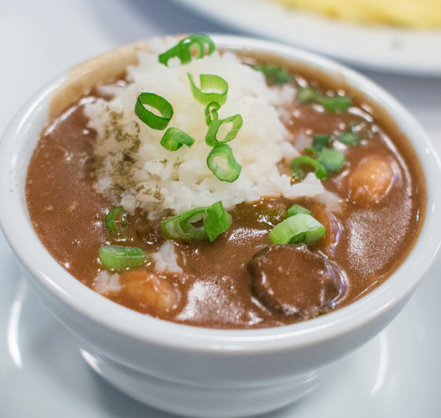 photo of a bowl of Seafood Gumbo Á La Creole