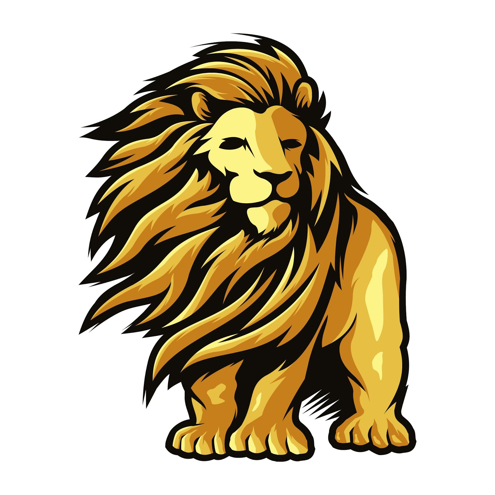 Lion Long Hair Illustration Free Download Vector CDR, AI, EPS and PNG Formats