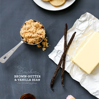 Bourbon, Brown Butter, and Vanilla Bean Shortbread Cookies.