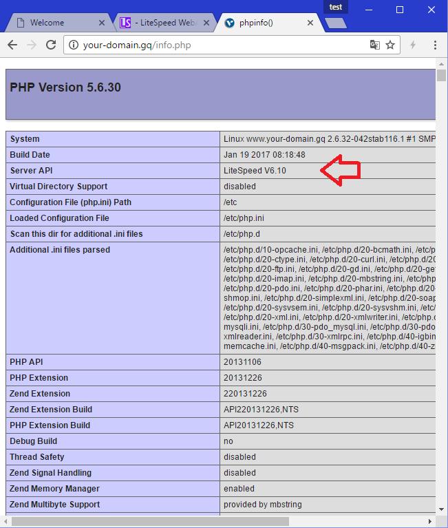 [LOMP – 5] Cài đặt Web Server OpenLiteSpeed trên Red Hat CentOS 5 – Tổng chạy hệ thống