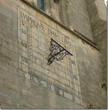 5 sundial on church