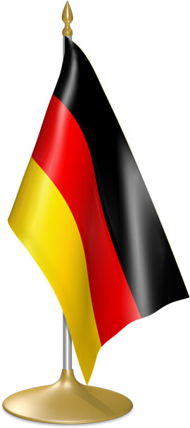 German table flags - desk flags