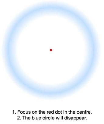 Optical Illusion : Disappearing Circle