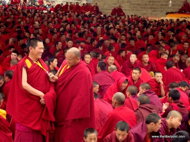 Massive religious gathering and enthronement of Dalai Lama's portrait in Lithang, Tibet. - l90.JPG
