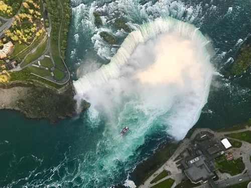 birds eye view of Niagara Falls