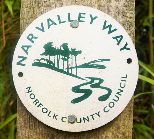 Nar Valley Way marker
