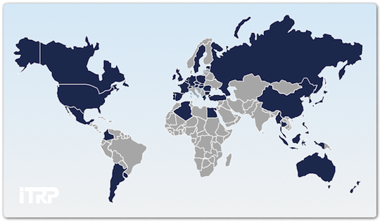 Countries in which ITRP is used