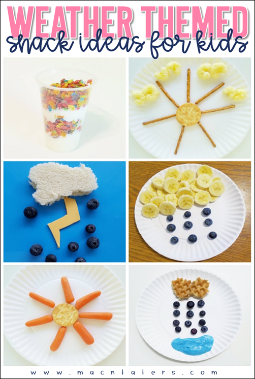 Weather Themed Snacks and Food IDeas for kids