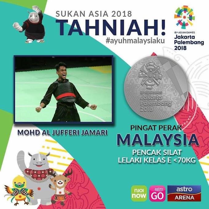 PENCAK SILAT | Mohd Al Jufferi tarik diri di pertengahan aksi final , raih pingat Perak