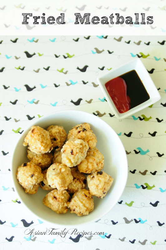 My local mom shared with me this Fried Meatballs' recipe. I cooked ...