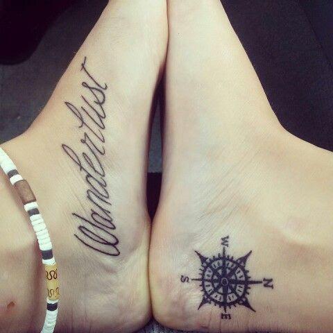 Bussola desenhos de Tatuagens no pe