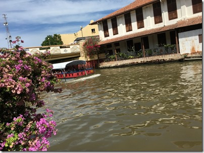 Melaka River cruise, along Bunga Raya Road