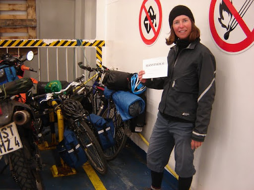 Trying to park our bikes for the 3-day ferry ride to Hanstholm, Denmark [Iceland]