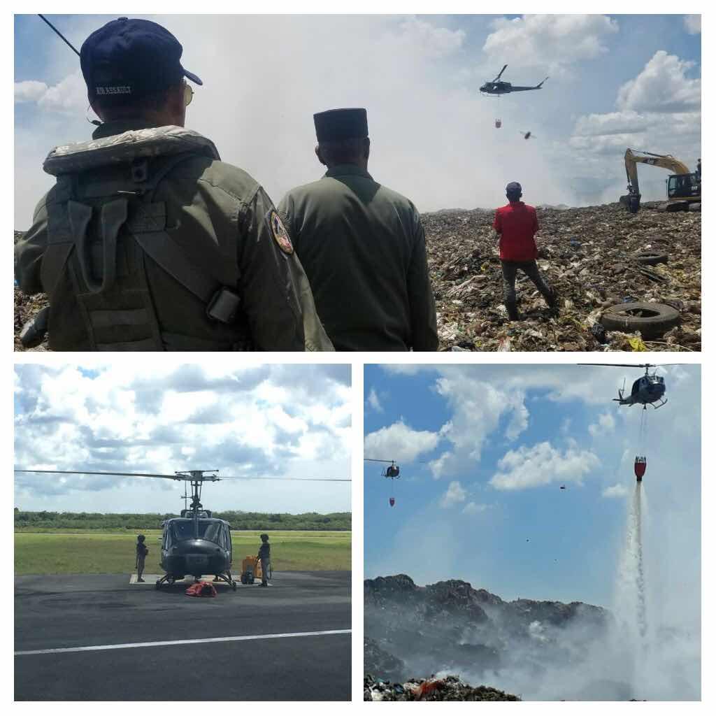 Fuerza Aérea realiza operaciones de contraincedios.